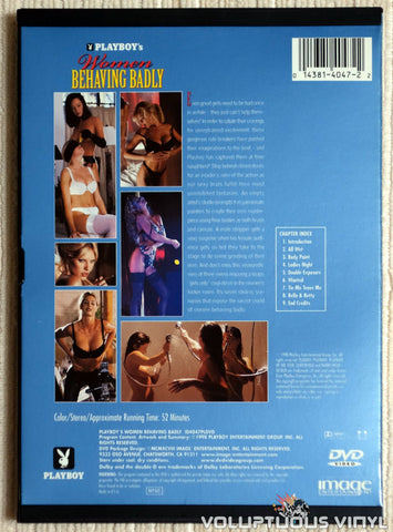 Playboy's Women Behaving Badly - DVD - Back Cover