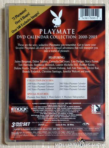 Playmate DVD Calendar Collection: 2000-2005 - DVD - Back Cover