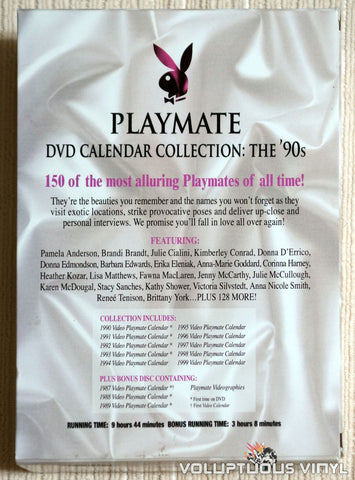 Playmate DVD Calendar Collection: The '90's - DVD - Back Cover