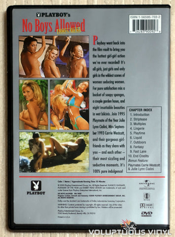 Playboy's No Boys Allowed, 100% Girls - DVD - Back Cover