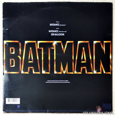 Prince ‎– Batdance vinyl record back cover