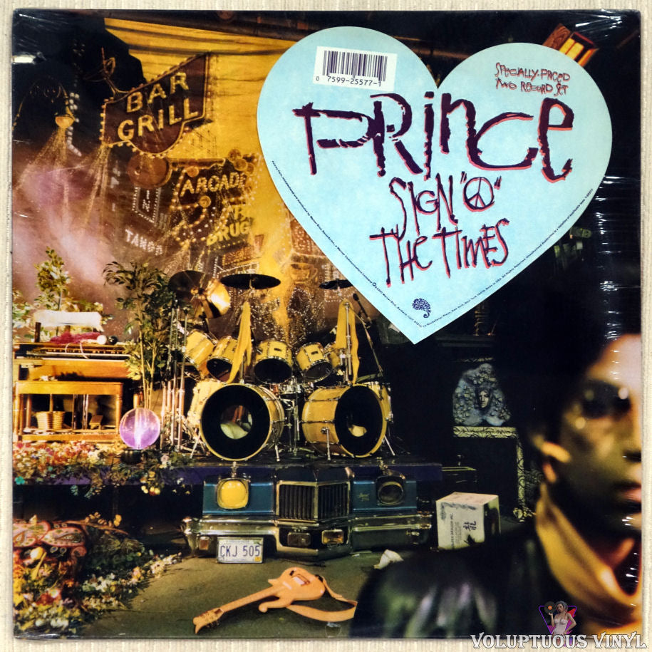 "Prince ‎– Sign ""O"" The Times vinyl record front cover"