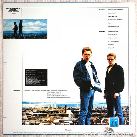 The Proclaimers ‎– Sunshine On Leith - Vinyl Record - Back Cover