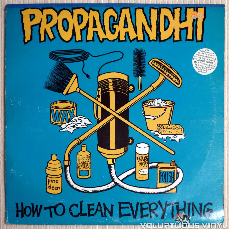 Propagandhi ‎– How To Clean Everything - Vinyl Record - Front Cover