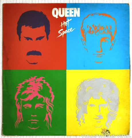 Queen ‎– Hot Space - Vinyl Record - Front Cover