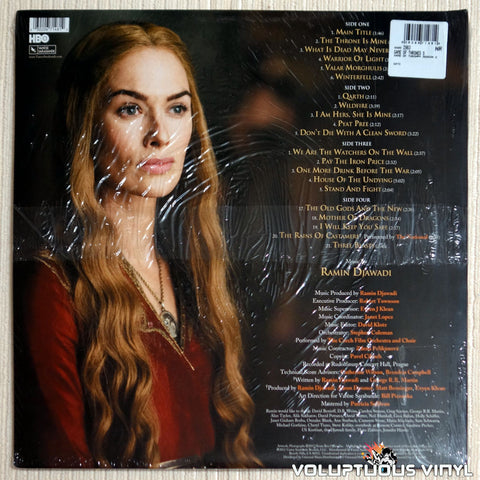 Ramin Djawadi ‎– Game of Thrones Season 2 - Vinyl Record - Back Cover