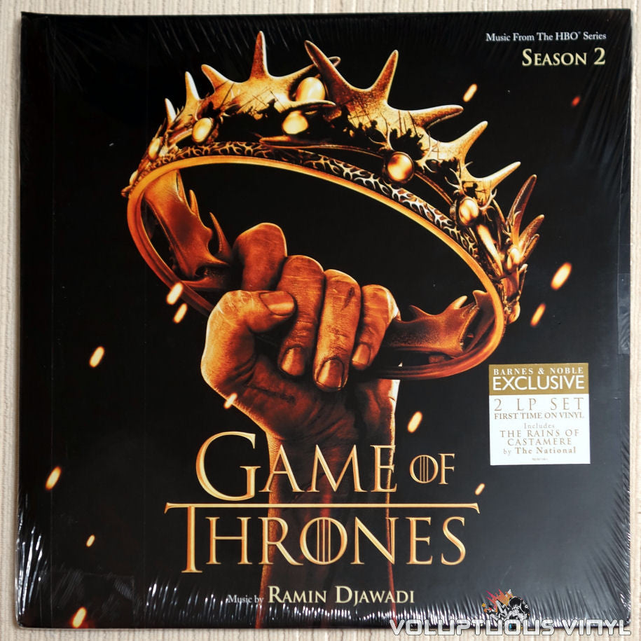 Ramin Djawadi ‎– Game of Thrones Season 2 - Vinyl Record - Front Cover