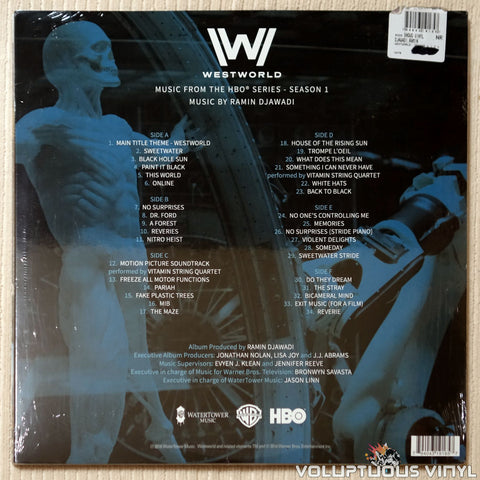 Ramin Djawadi ‎– Westworld Season 1- Vinyl Record - Back Cover