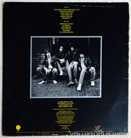 Ramones ‎Road To Ruin Vinyl Record Back Cover
