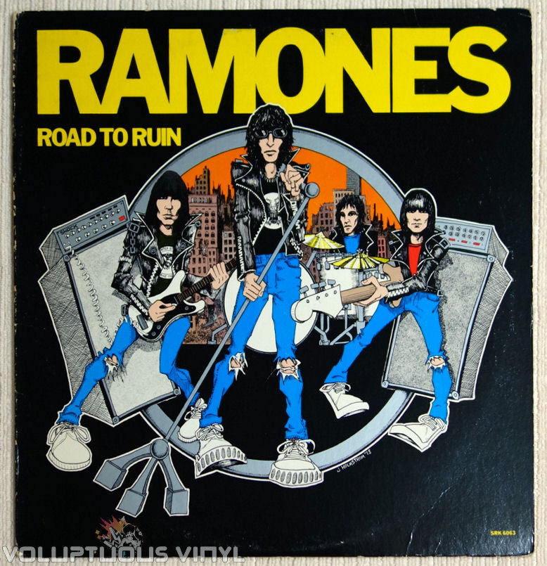 Ramones ‎Road To Ruin Vinyl Record Front Cover