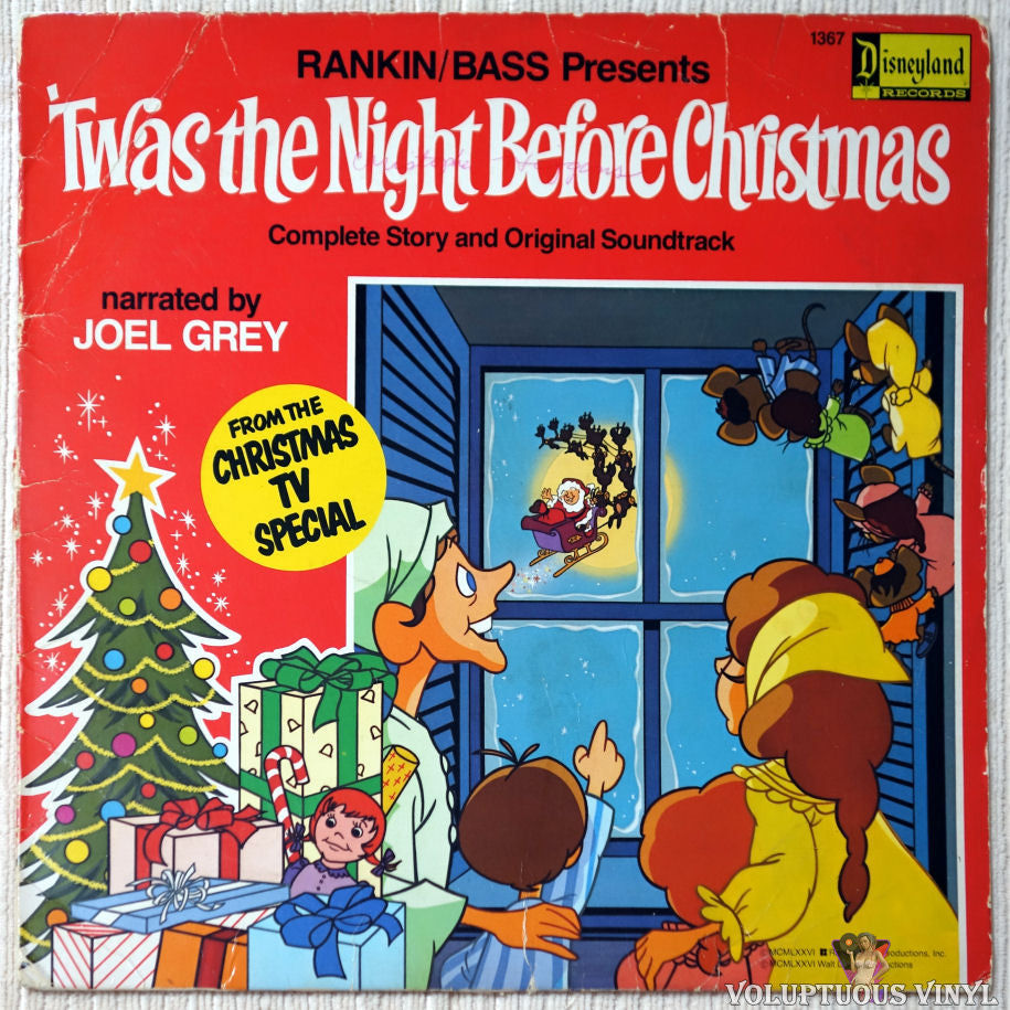 Rankin / Bass ‎– 'Twas The Night Before Christmas vinyl record front cover