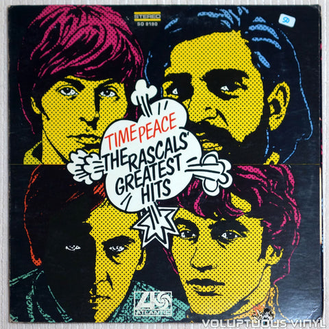 The Rascals ‎– Time Peace: The Rascals' Greatest Hits - Vinyl Record - Front Cover