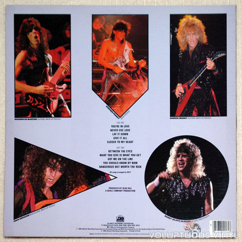 Ratt ‎– Invasion Of Your Privacy - Vinyl Record LP - Back Cover