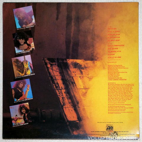 Ratt ‎– Out Of The Cellar - Vinyl Record LP - Back Cover