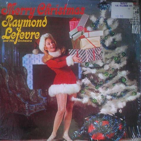 Raymond Lefevre And His Orchestra ‎– Merry Christmas vinyl record front cover