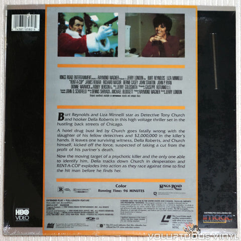 Rent-A-Cop - Laserdisc - Back Cover