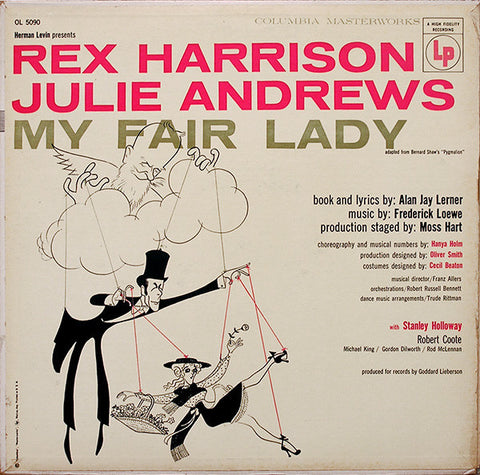 Rex Harrison & Julie Andrews ‎– My Fair Lady (1956) Cheap Vinyl