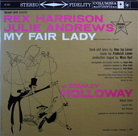 Rex Harrison & Julie Andrews ‎– My Fair Lady (1959) Cheap Vinyl Record