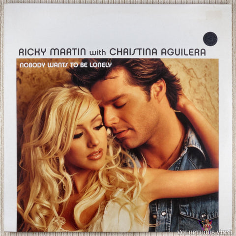 Ricky Martin With Christina Aguilera ‎– Nobody Wants To Be Lonely vinyl record front cover