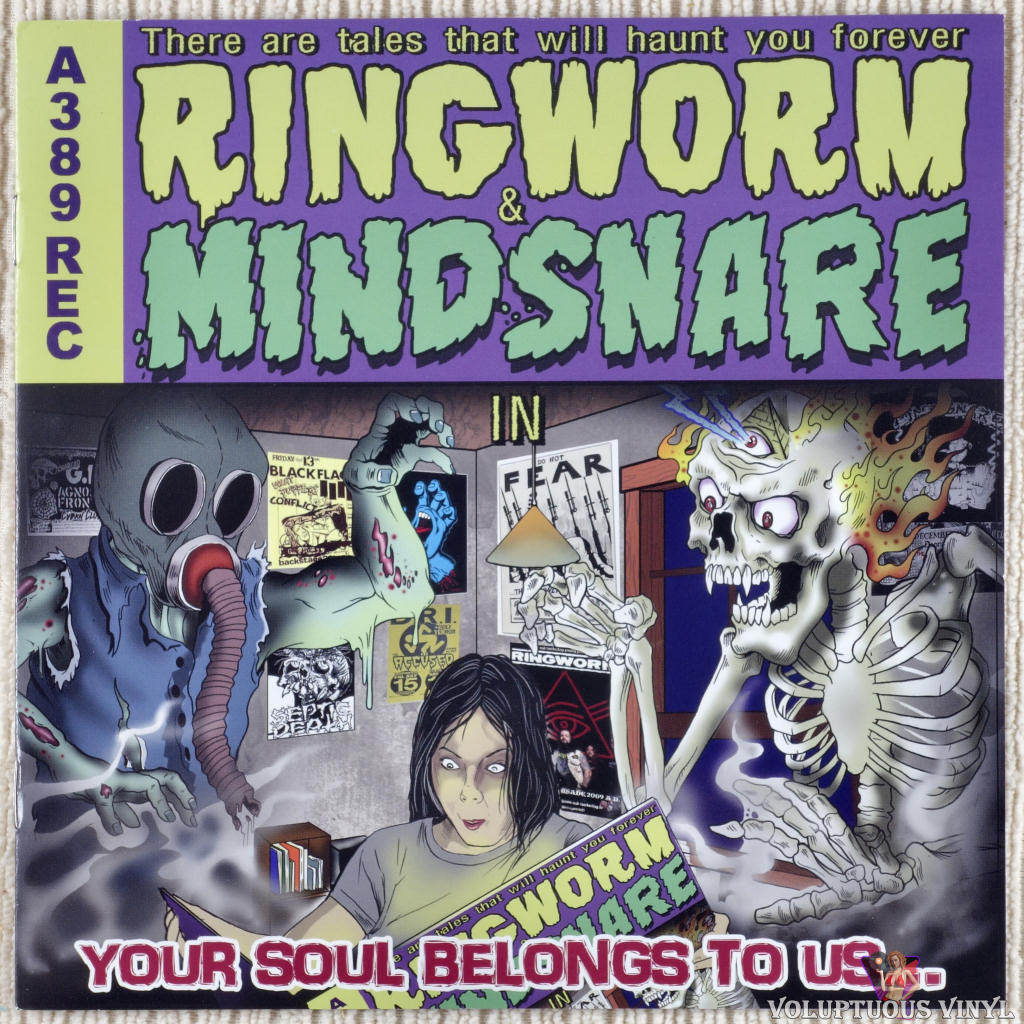 Ringworm / Mindsnare ‎– Your Soul Belongs To Us... vinyl record front cover