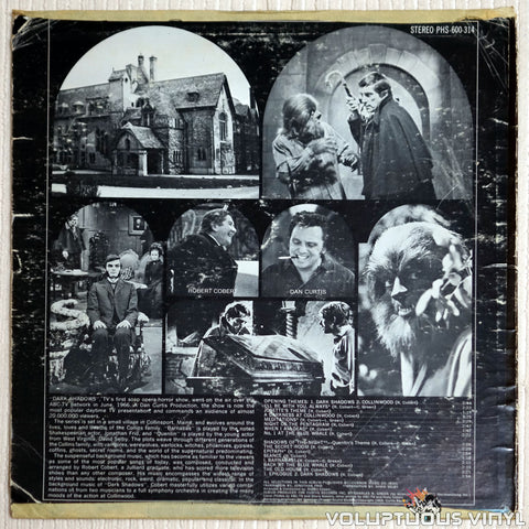 The Robert Cobert Orchestra ‎– The Original Music From ABC's Dark Shadows - Vinyl Record - Back Cover