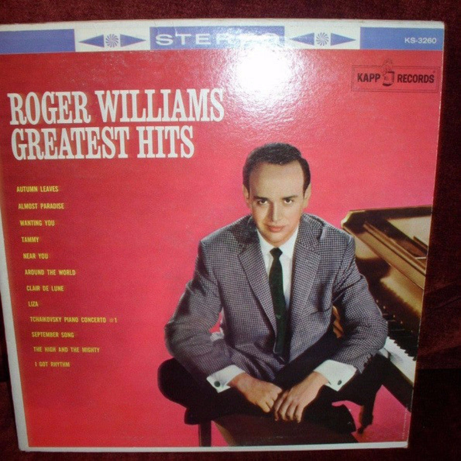 Roger Williams ‎– Greatest Hits - Vinyl Record - Front Cover
