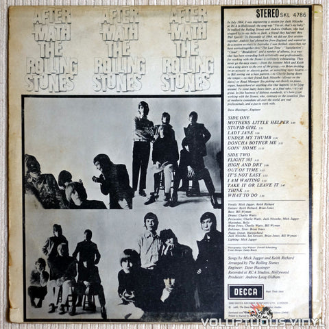 The Rolling Stones ‎– Aftermath - Vinyl Record - Back Cover