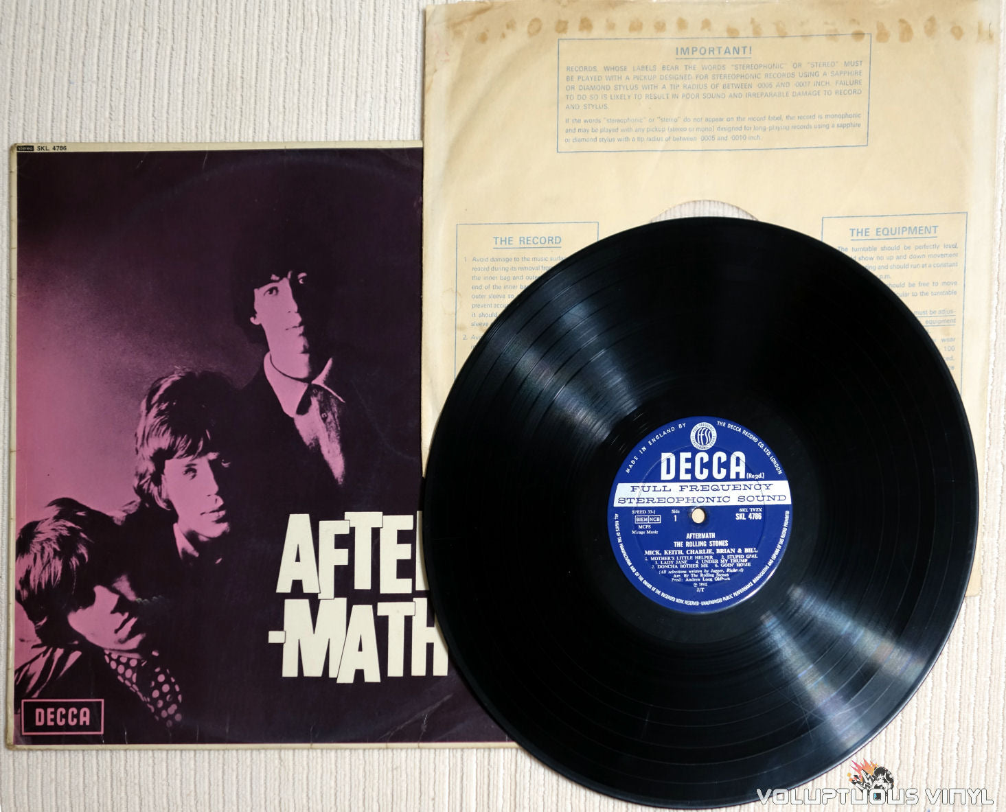 The Rolling Stones ‎– Aftermath (1966) STEREO UK Press