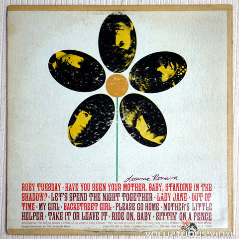 The Rolling Stones ‎– Flowers - Vinyl Record - Back Cover