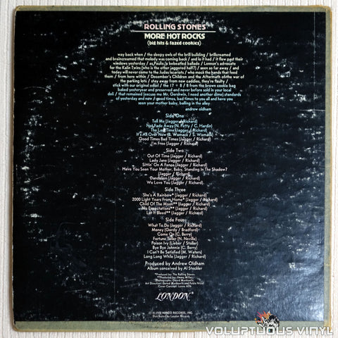 The Rolling Stones ‎– More Hot Rocks (Big Hits & Fazed Cookies) - Vinyl Record - Back Cover