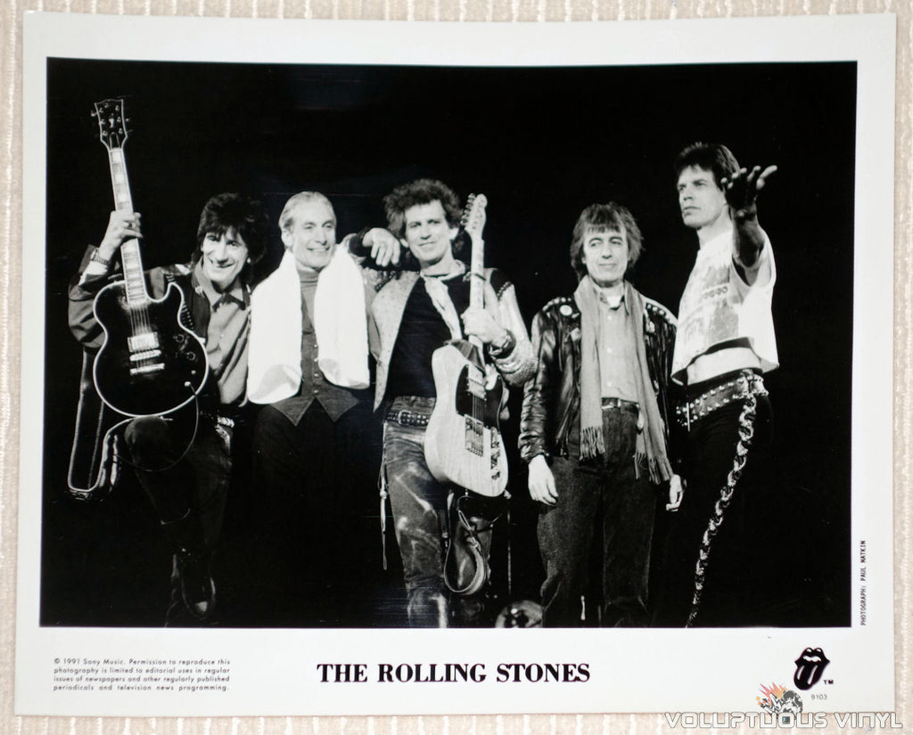 The Rolling Stones - Sony Music - 1991 Promotional Photo