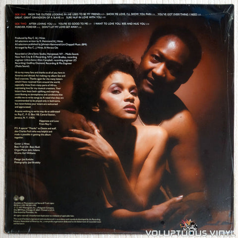 Roy C. ‎– More Sex And More Soul - Vinyl Record - Back Cover