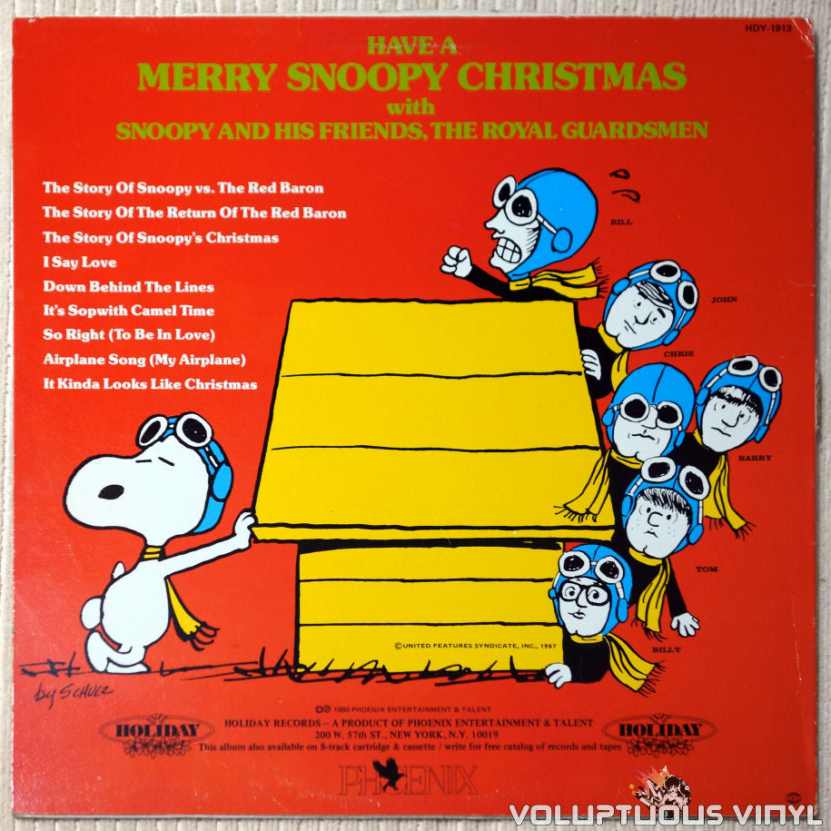 the royal guardsmen merry snoopys christmas 1980 vinyl voluptuous vinyl records