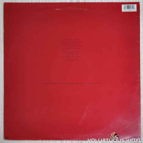 Rush ‎– Hold Your Fire - Vinyl Record - Back Cover