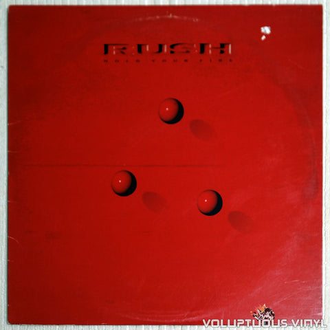 Rush ‎– Hold Your Fire - Vinyl Record - Front Cover