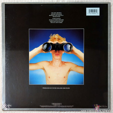 Rush ‎– Power Windows vinyl record back cover