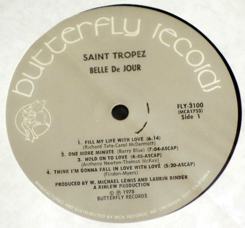 Saint Tropez ‎Belle De Jour Vinyl Record Grey Butterfly Records Label