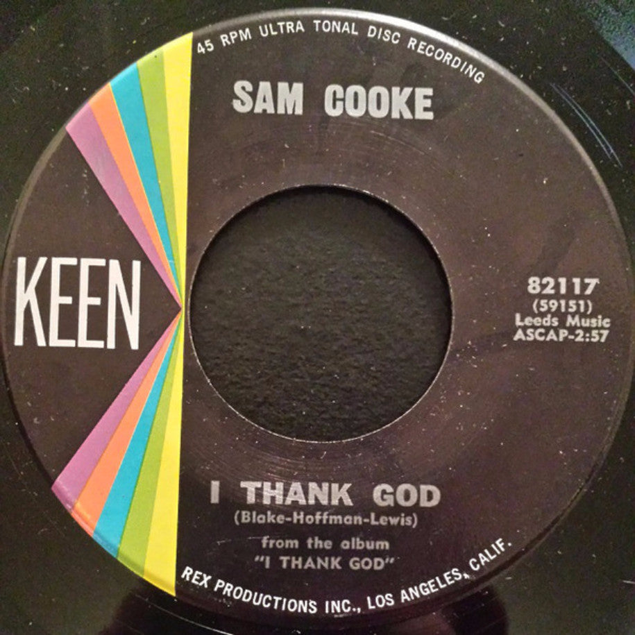 Sam Cooke ‎– I Thank God / With You - Vinyl Record - Single