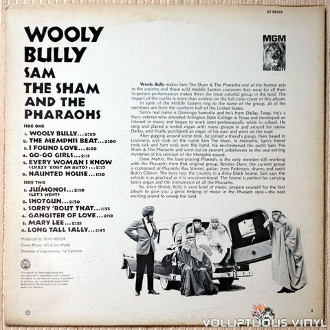 Sam The Sham And The Pharaohs ‎– Wooly Bully - Vinyl Record - Back Cover