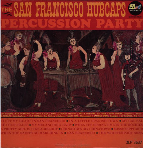 The San Francisco Hubcaps ‎– Percussion Party - Vinyl Record - Front Cover