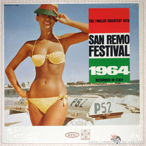 San Remo Festival 1964: The Twelve Greatest Hits - Vinyl Record - Front Cover Bikini Babe