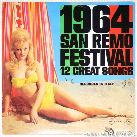San Remo Festival 1964: 12 Great Songs - Vinyl Record - Front Cover Bikini Babe