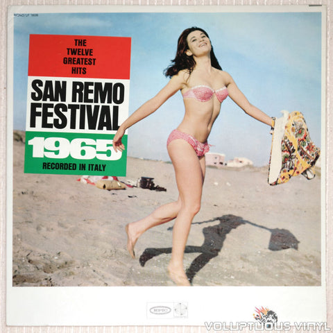 San Remo Festival 1965: The Twelve Greatest Hits - Vinyl Record - Front Cover Bikini Babe