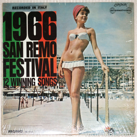 San Remo Festival 1966: 12 Winning Songs - Vinyl Record - Front Cover Bikini Babe