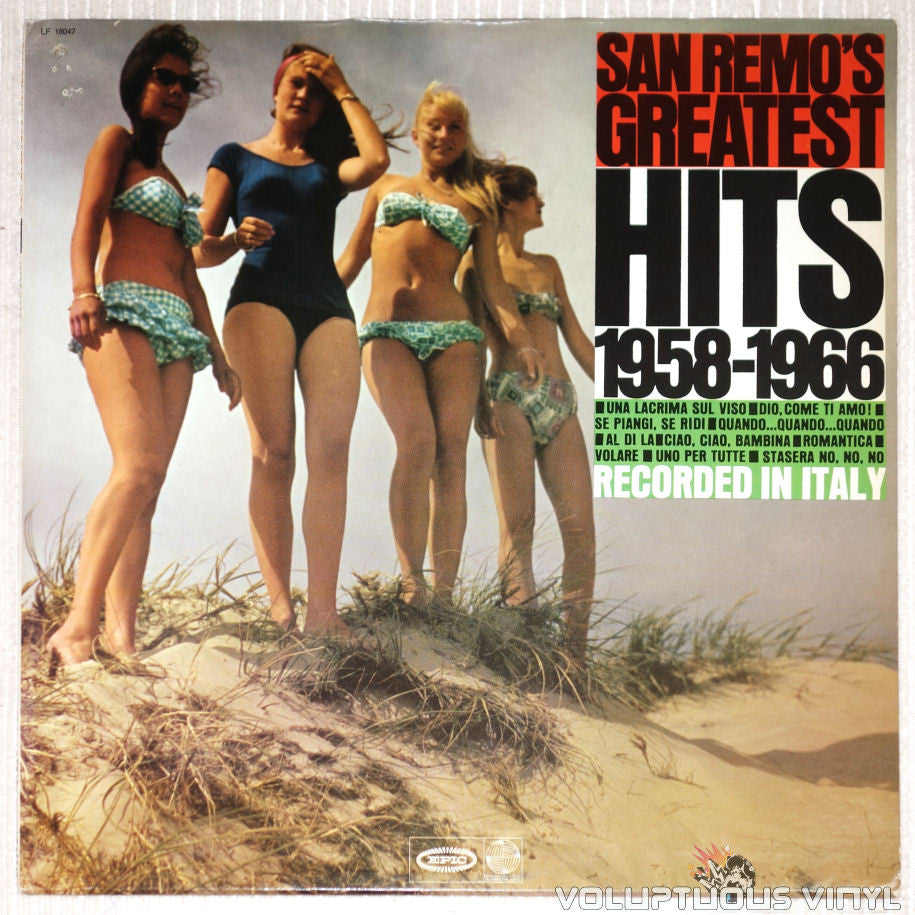 San Remo's Greatest Hits 1958-1966 - Vinyl Record - Front Cover Bikini Babes