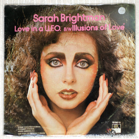 Sarah Brightman ‎– Love In A U.F.O. - Vinyl Record - Back Cover