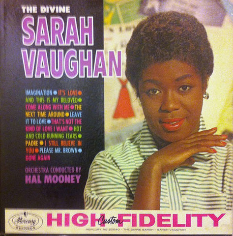 Sarah Vaughan ‎– The Divine Sarah Vaughan (1960) - Vinyl Record - Front Cover