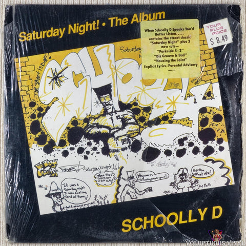 Schoolly D ‎– Saturday Night! • The Album vinyl record front cover