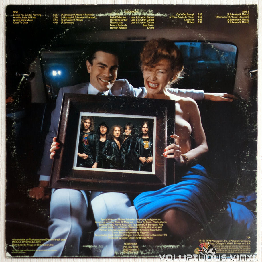Scorpions Lovedrive 1979 Vinyl Banned Topless Cover