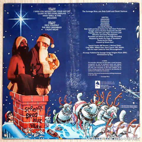 The Scrooge Bros ‎– Commercial Christmasland - Vinyl Record - Back Cover